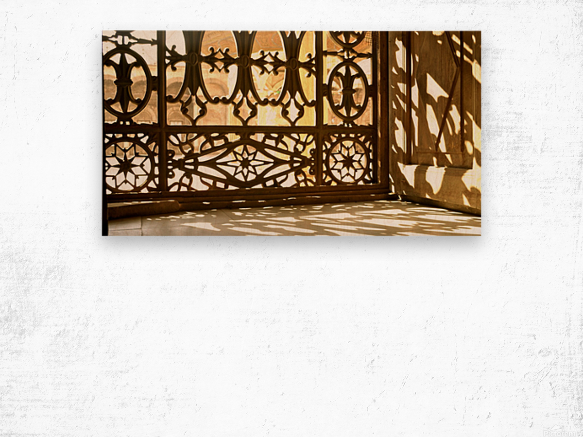 Egyptian Heritage Architecture Light & Shadow Wood print