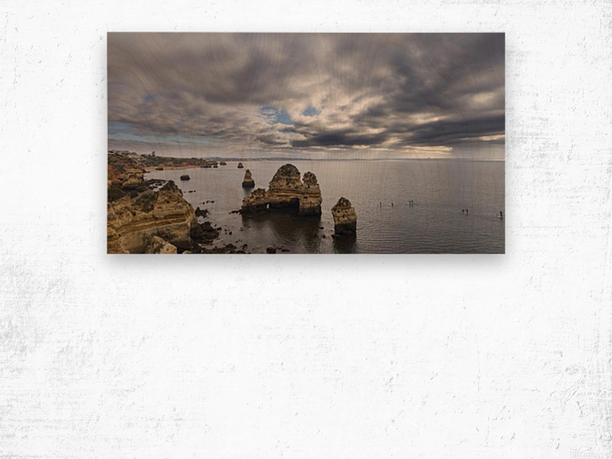Praia do Camilo Wood print