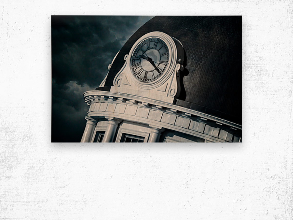 Kingstons Clock Wood print