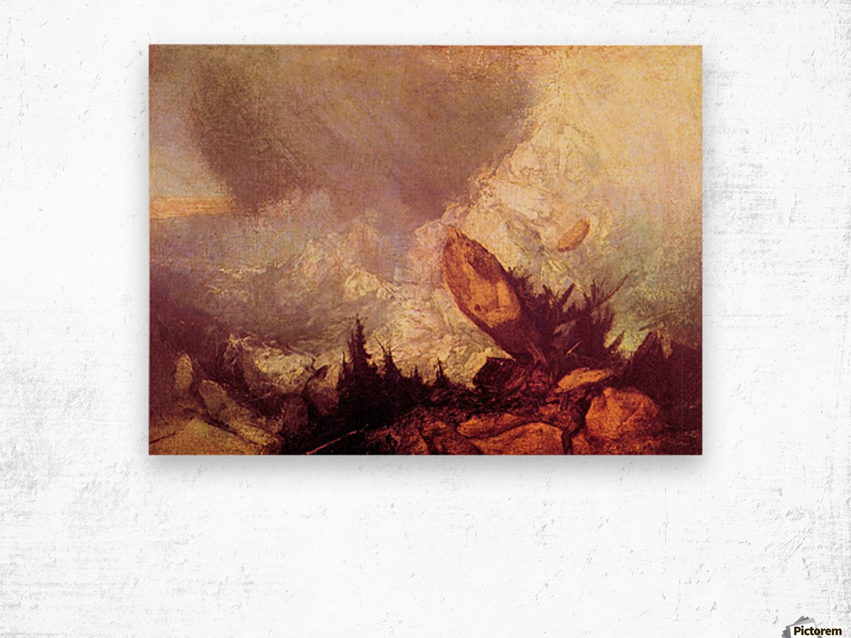 Avalanche by Joseph Mallord Turner Wood print