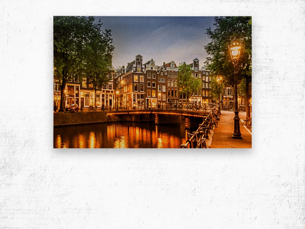 AMSTERDAM Idyllic impression from Singel Wood print