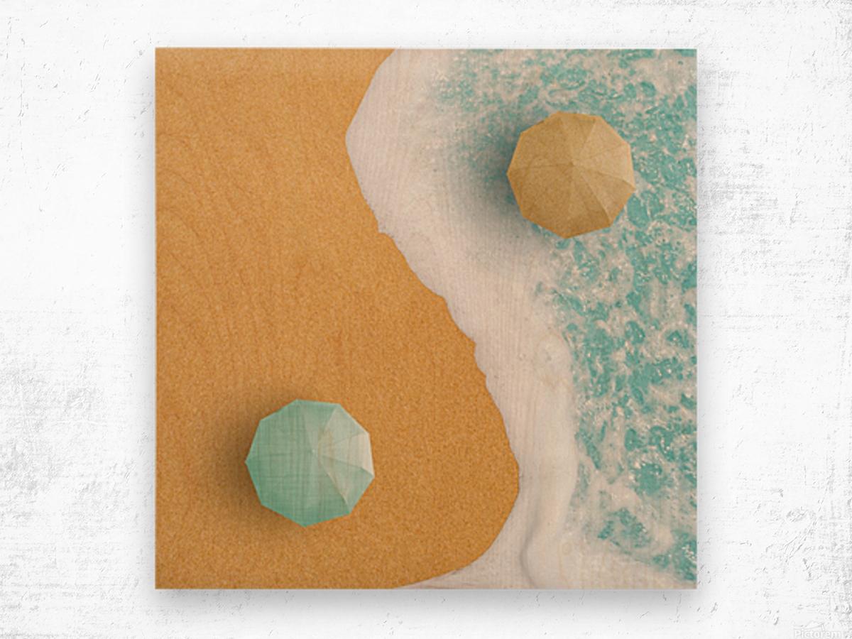 Yin and Yang. Wood print