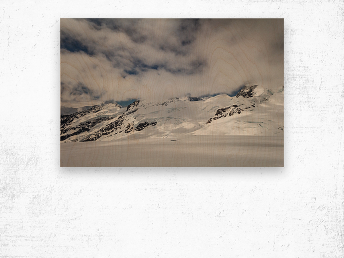 Clouds Crashing Wood print