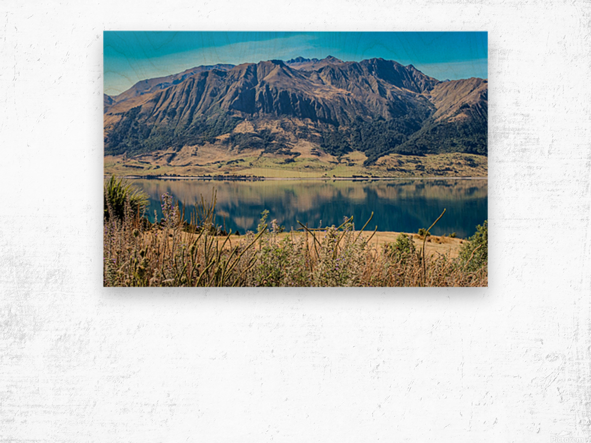 Mighty Mount Wood print
