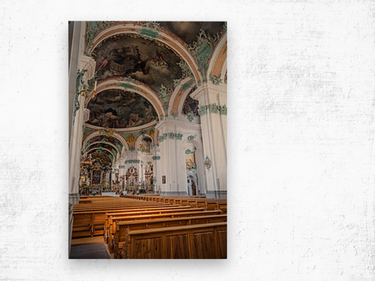 Church Pews Wood print