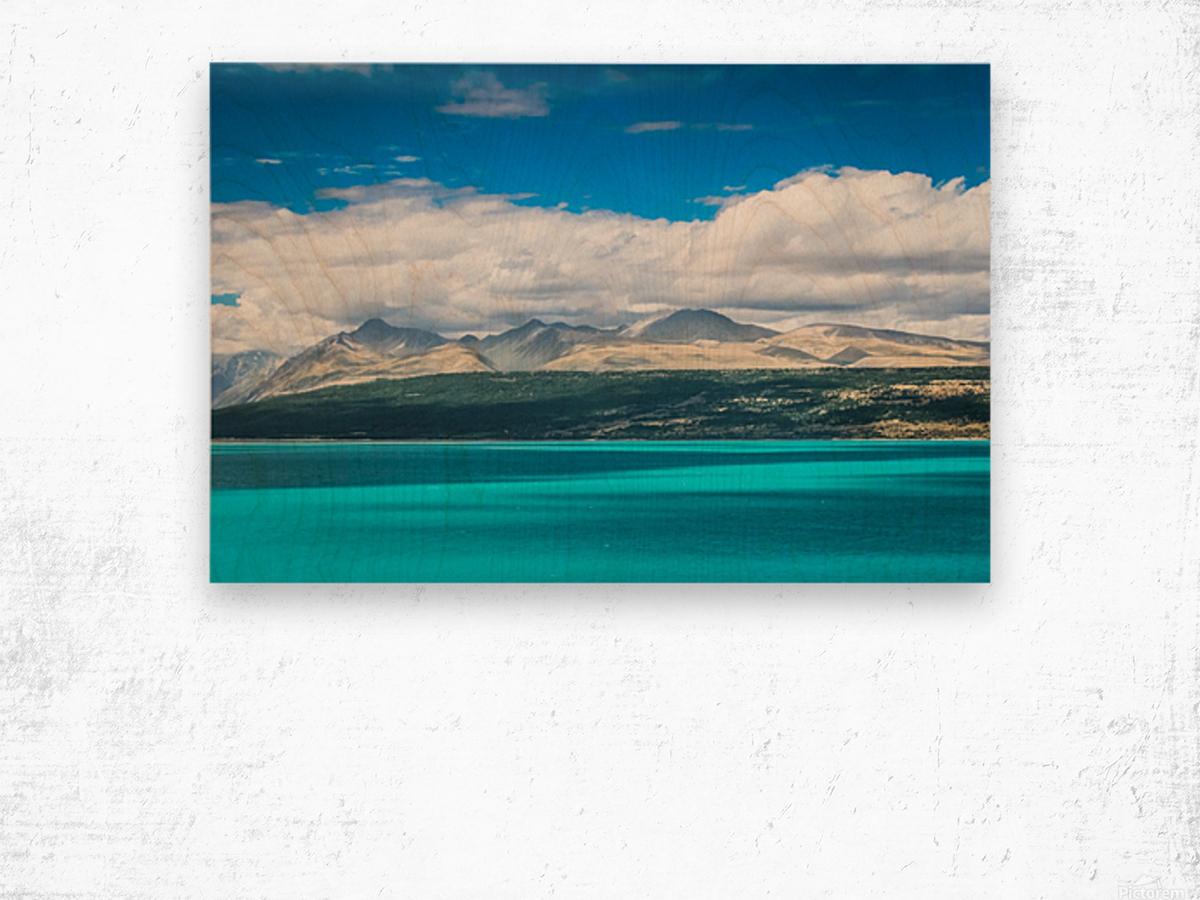 Lake Pukaki Wood print