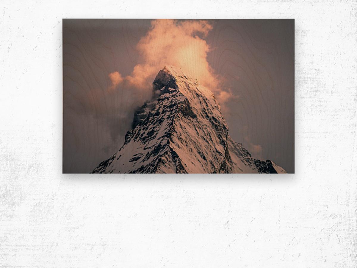 Matterhorn Glow Wood print