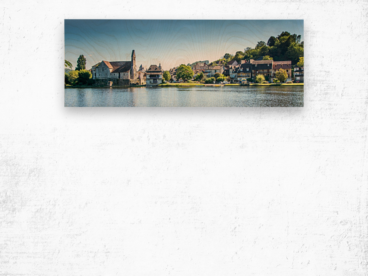 Beaulieu-sur-Dordogne Wood print