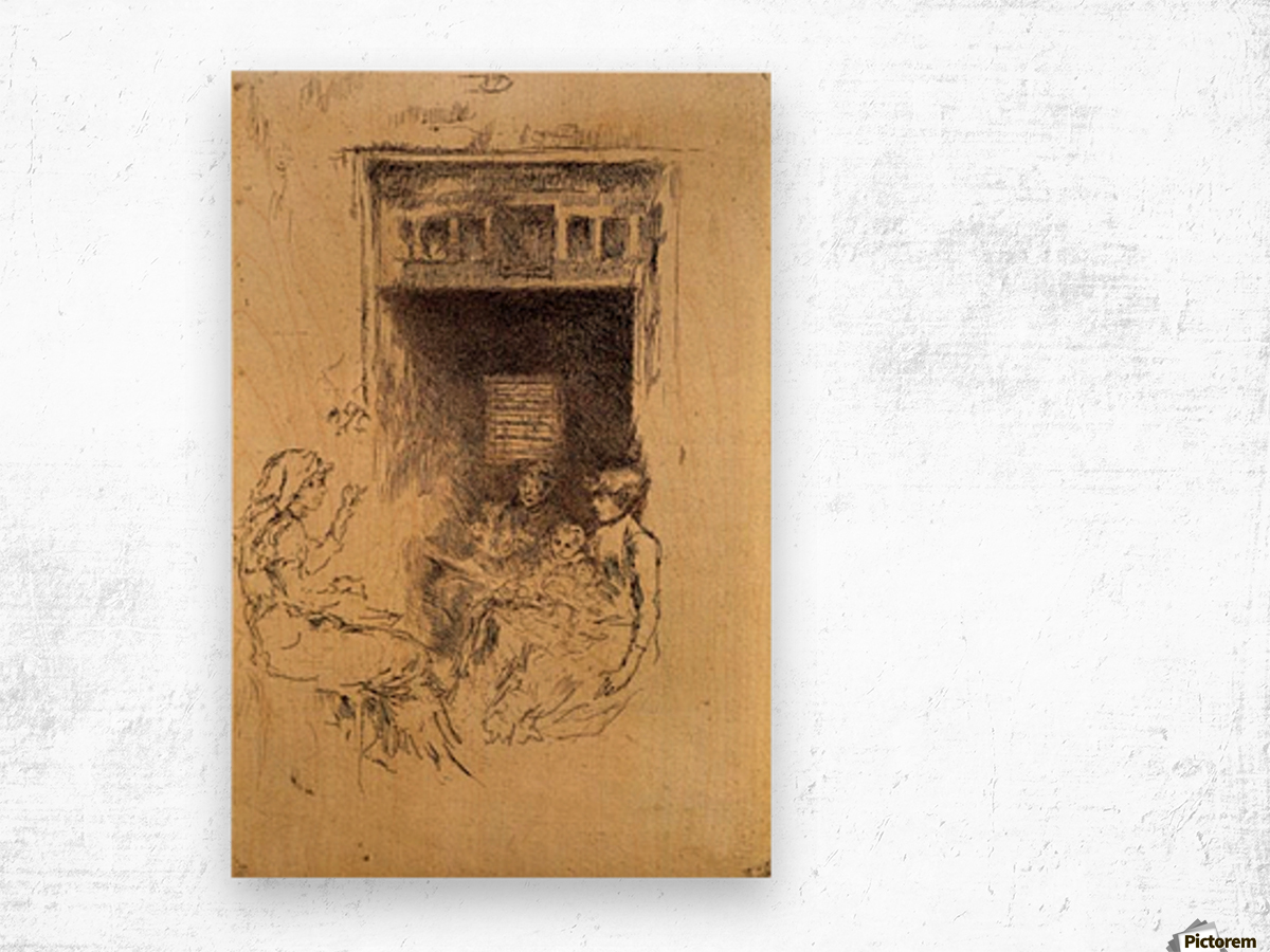 Bead Stringers -2- by Whistler Wood print