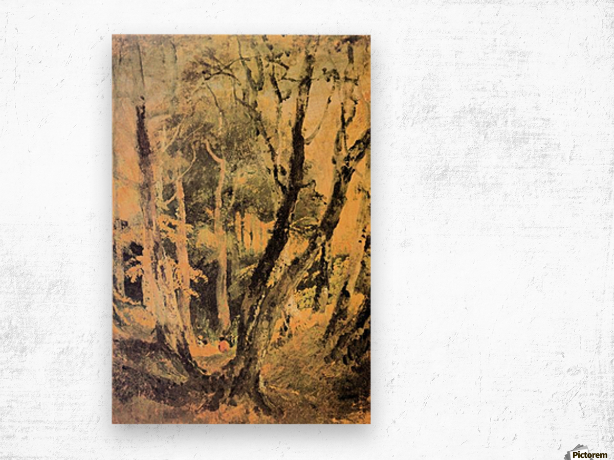 Birch woods with Gypsies by Joseph Mallord Turner Wood print