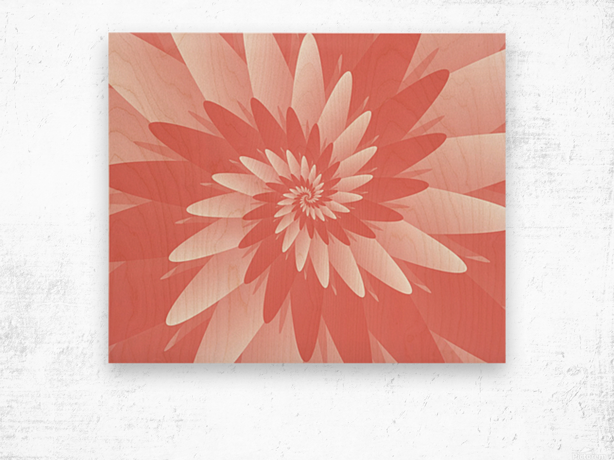 Spiral Flower Pattern Art Wood print