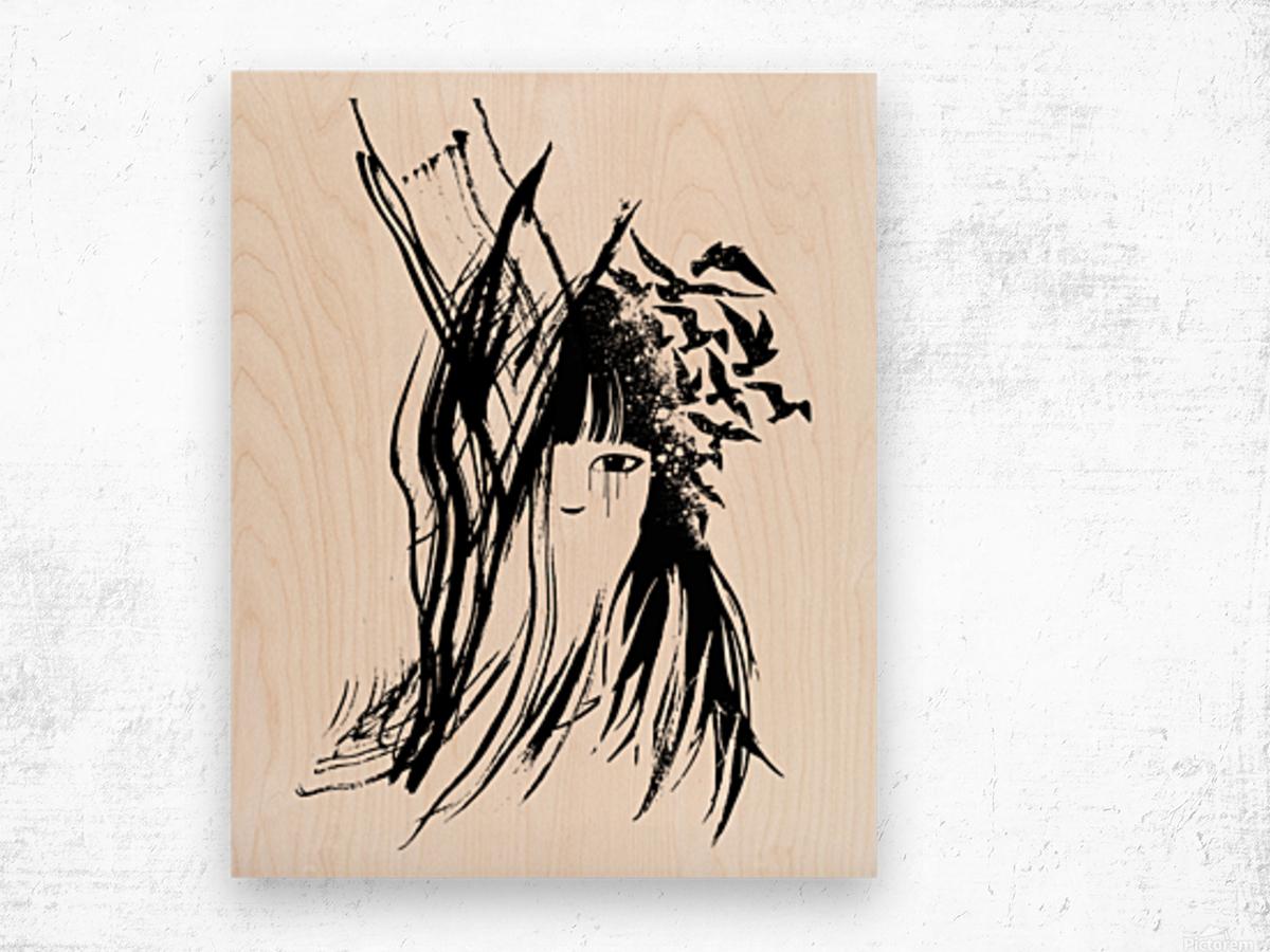 Abstract Girl 2 Wood print