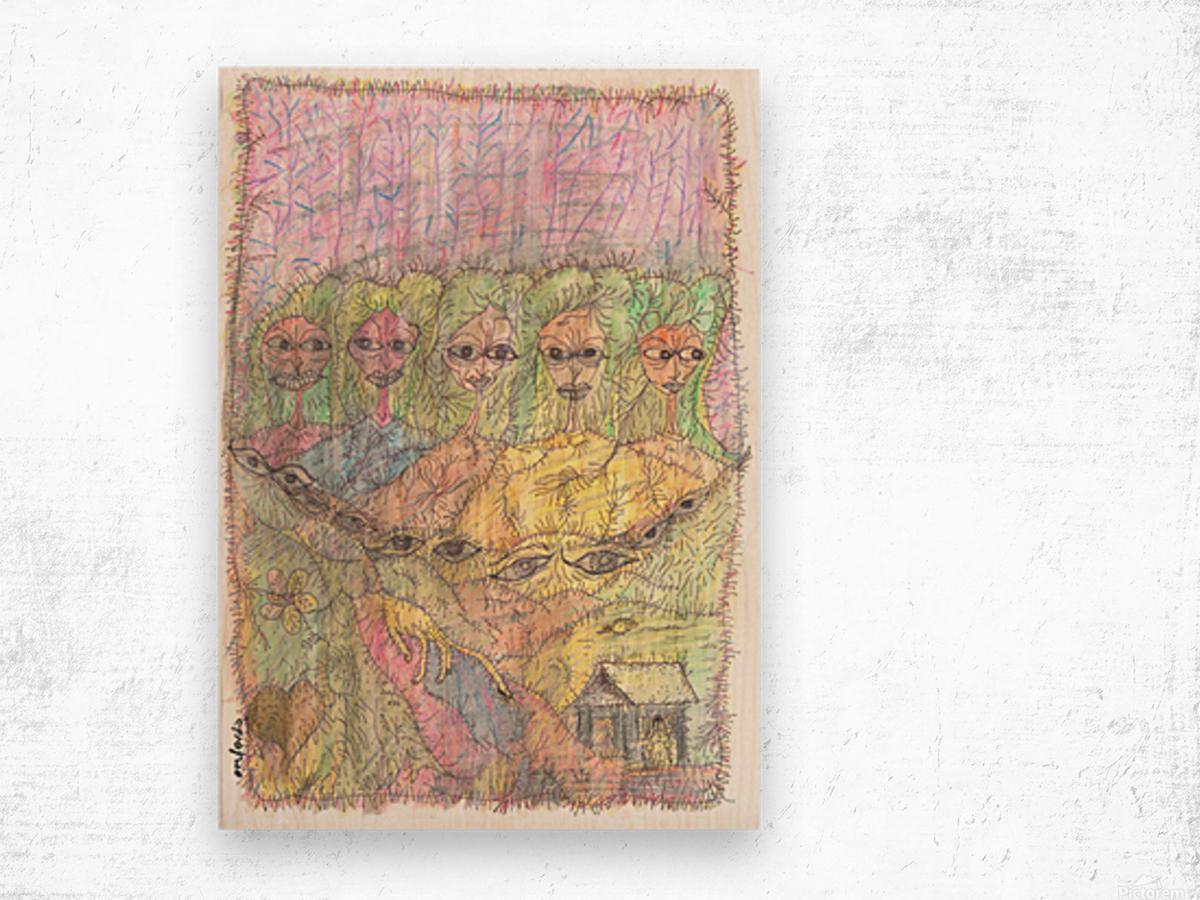 waterwomen Wood print