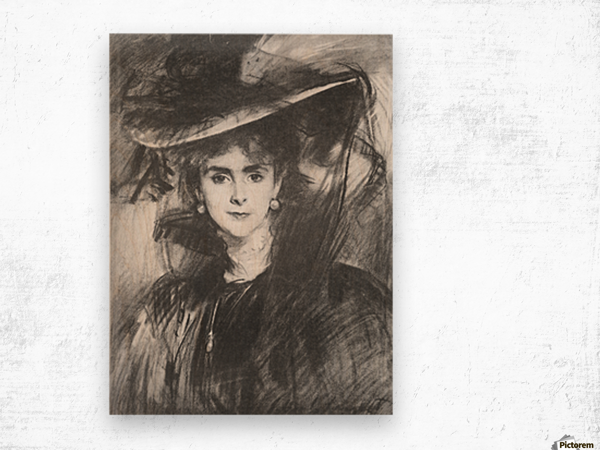 Baroness de Meyer by John Singer Sargent Wood print