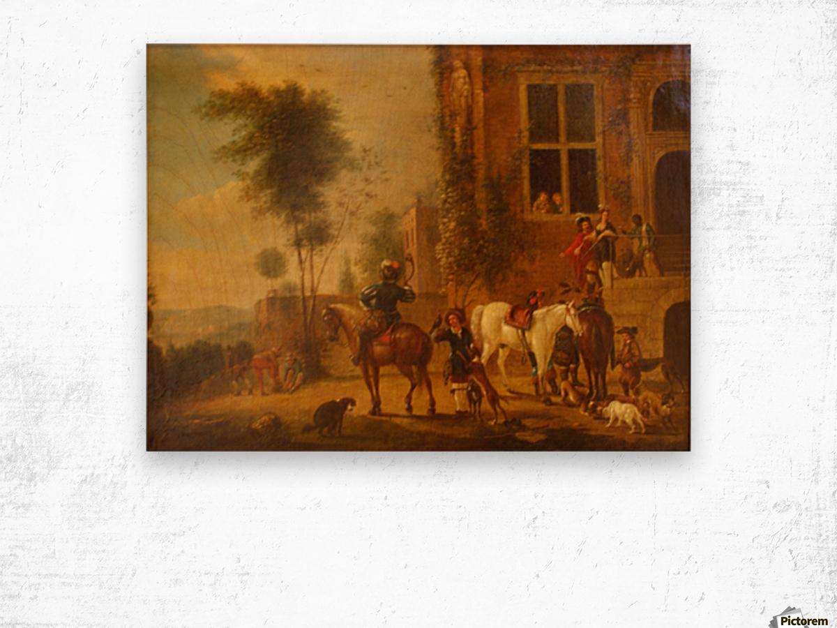 Before 1668 Wood print
