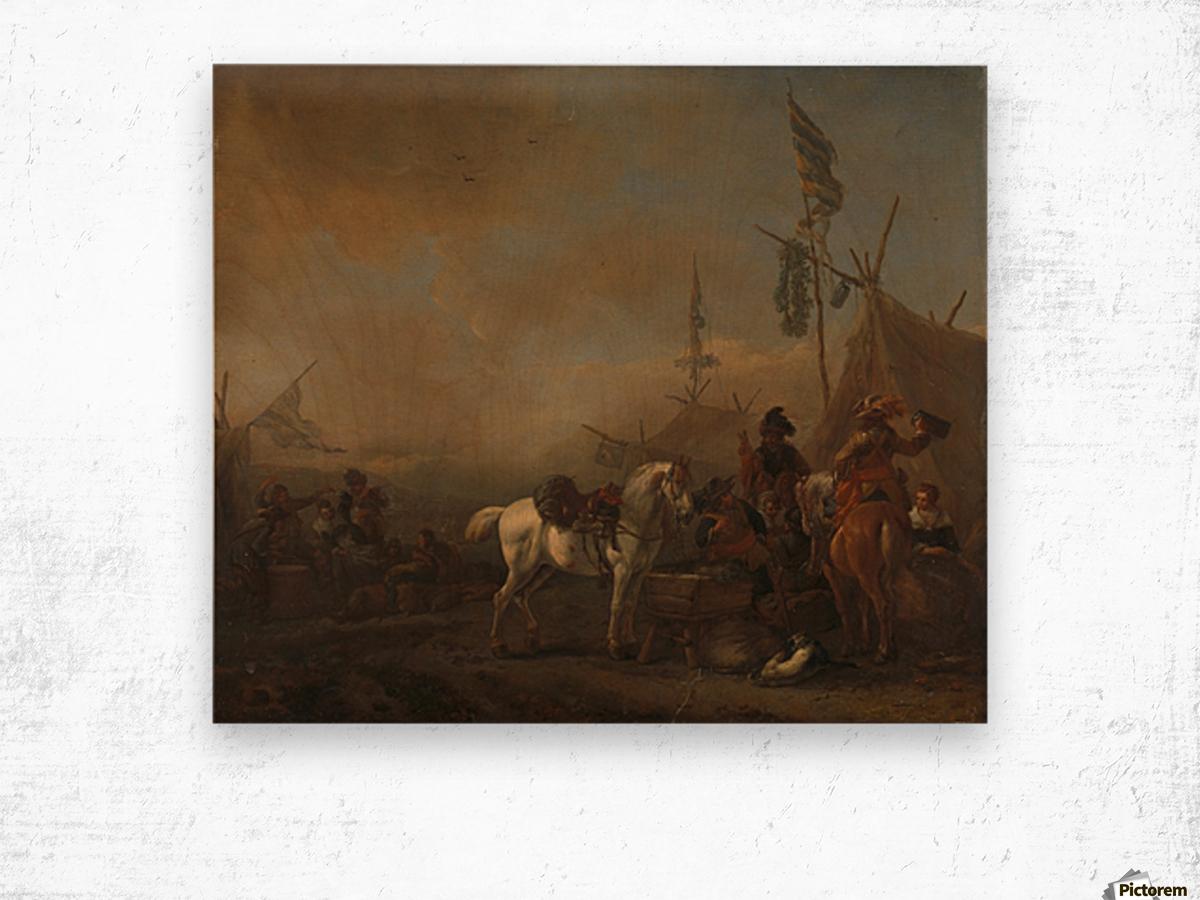 Een legerkamp Rijksmuseum Wood print