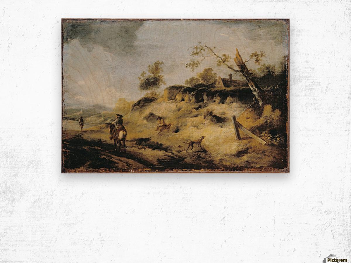 Sandbank with Travellers Wood print