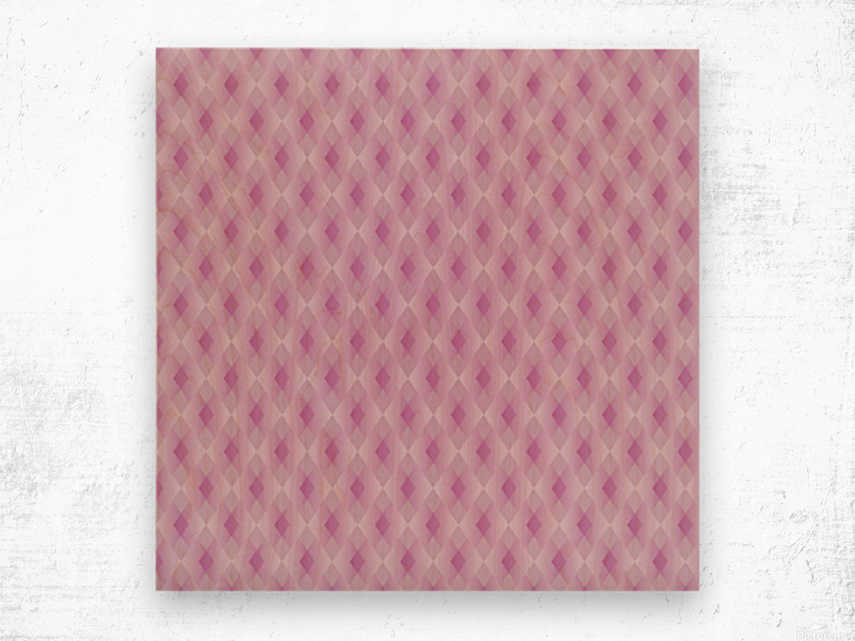 Diamond Shape Pattern Artwork Wood print