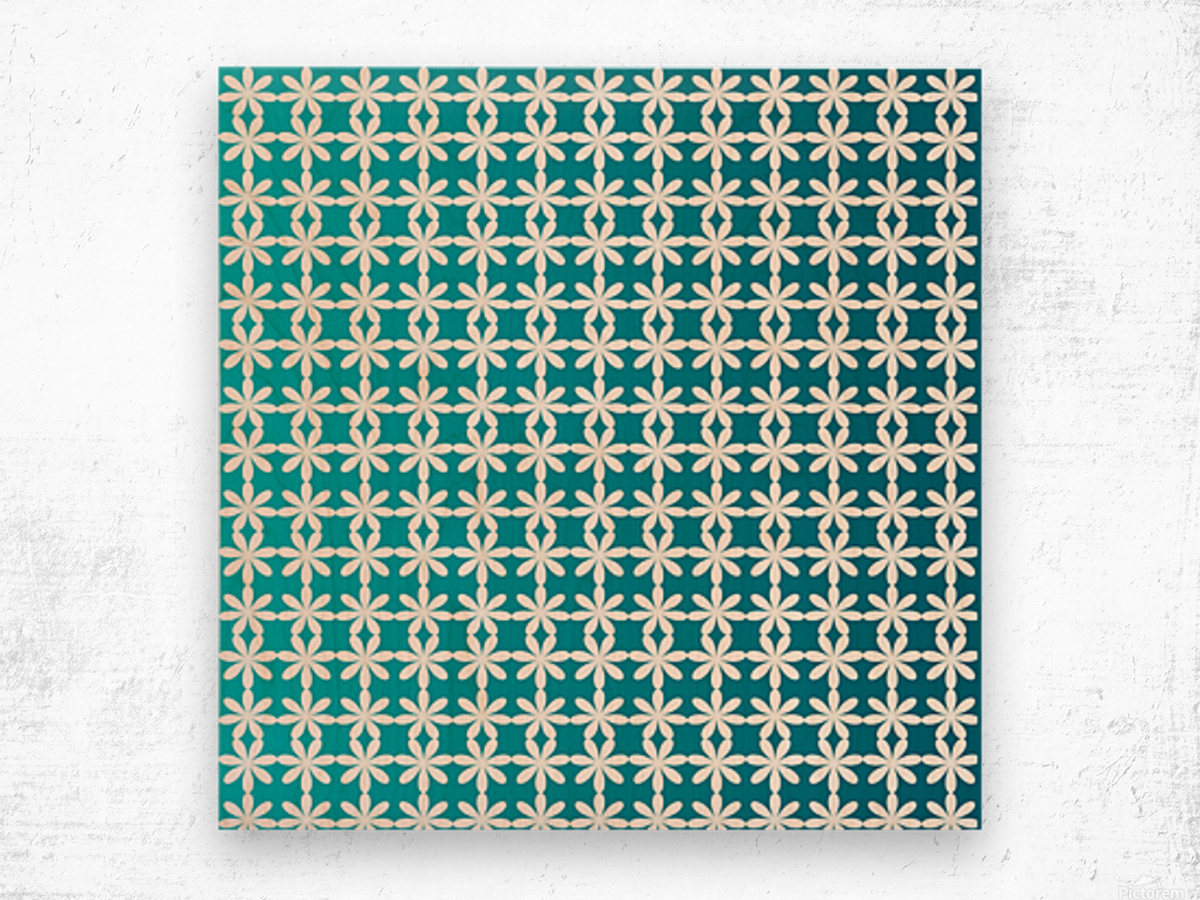 Floral Gradient Seamless Pattern Artwork Wood print