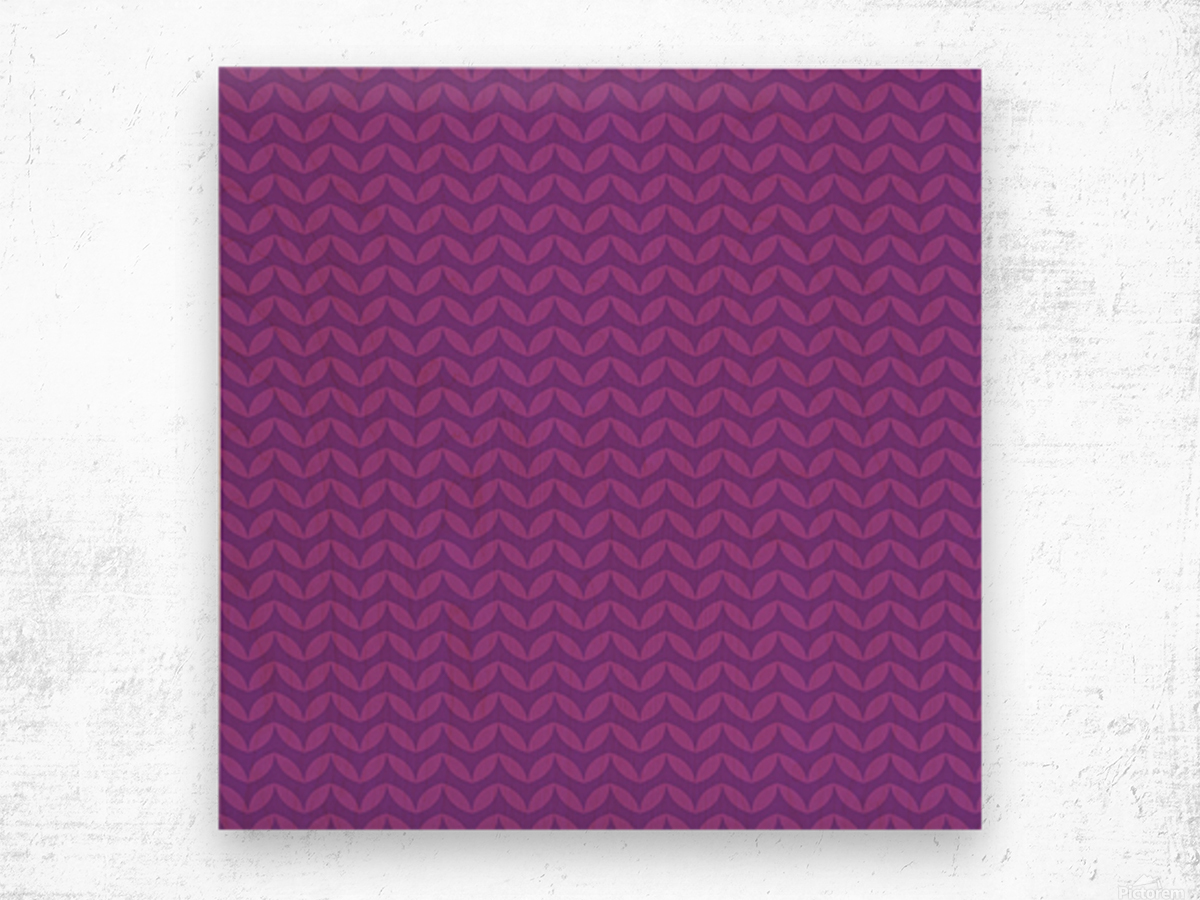 Wavy Seamless Pattern Art Wood print