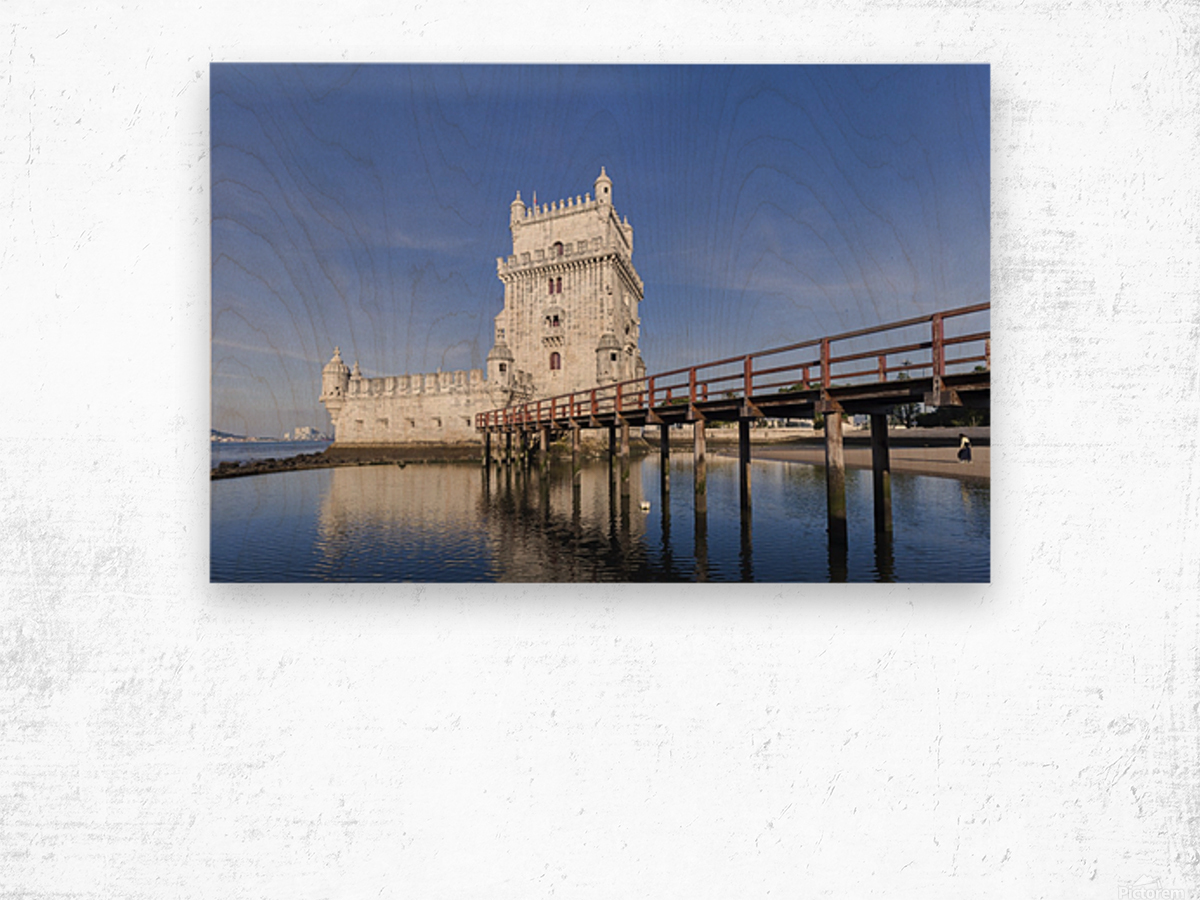 Torre de Belem Wood print