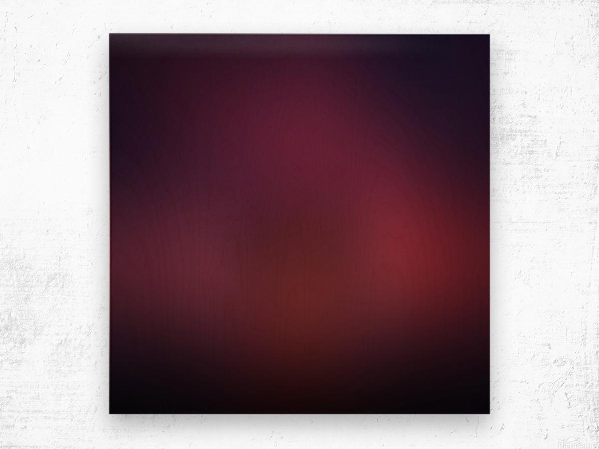 Blurred Red Background Wood print