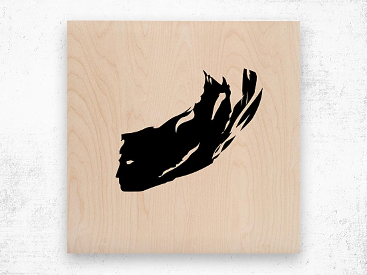 Head Wood print