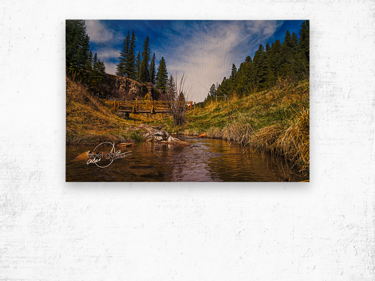BluffSprings Wood print
