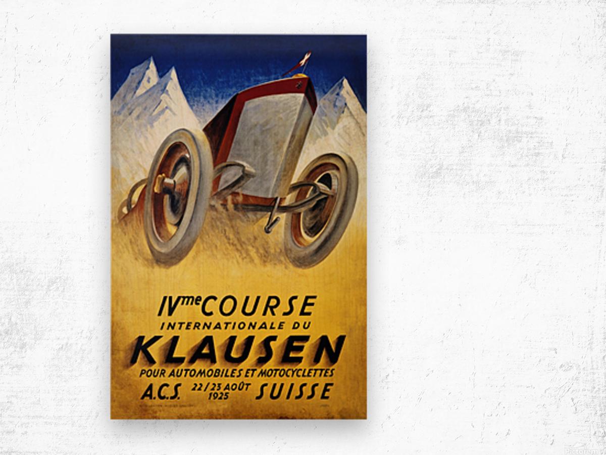 Klausen Suisse Ivme Course Internationale Acs 1925 Wood print