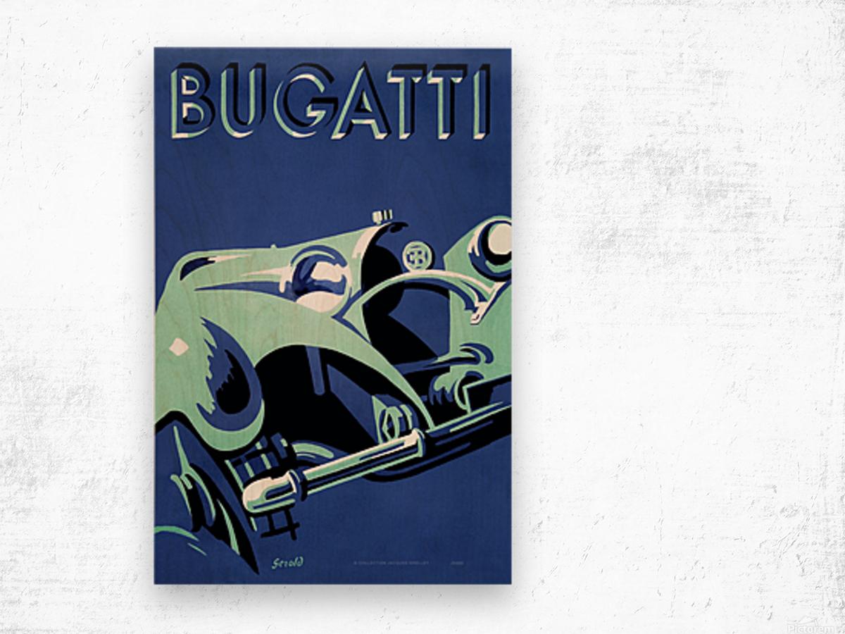 Bugatti Type 50 Super Roadster 1932 Wood print