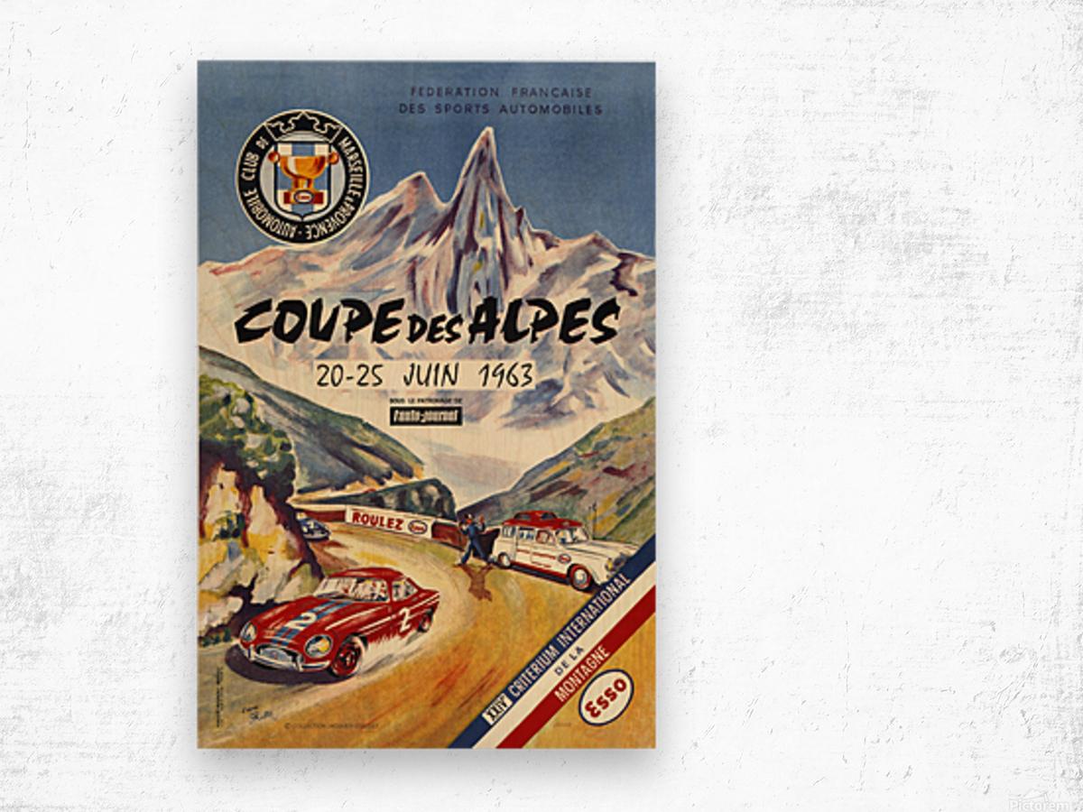Coupe Des Alpes Federation Francaise Des Sports Automobiles 1963 Wood print