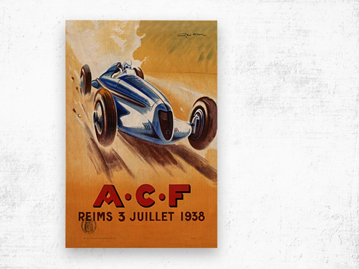 ACF Reims 3 Juillet 1938 Wood print