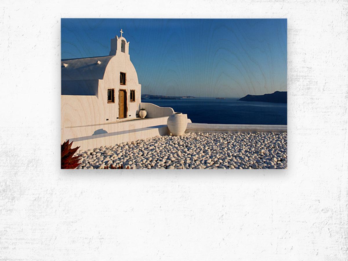 S A N T O R I N I - Greece Wood print