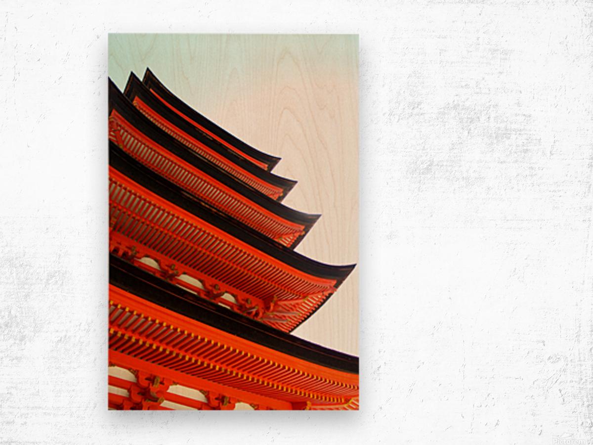 J A P A N Wood print