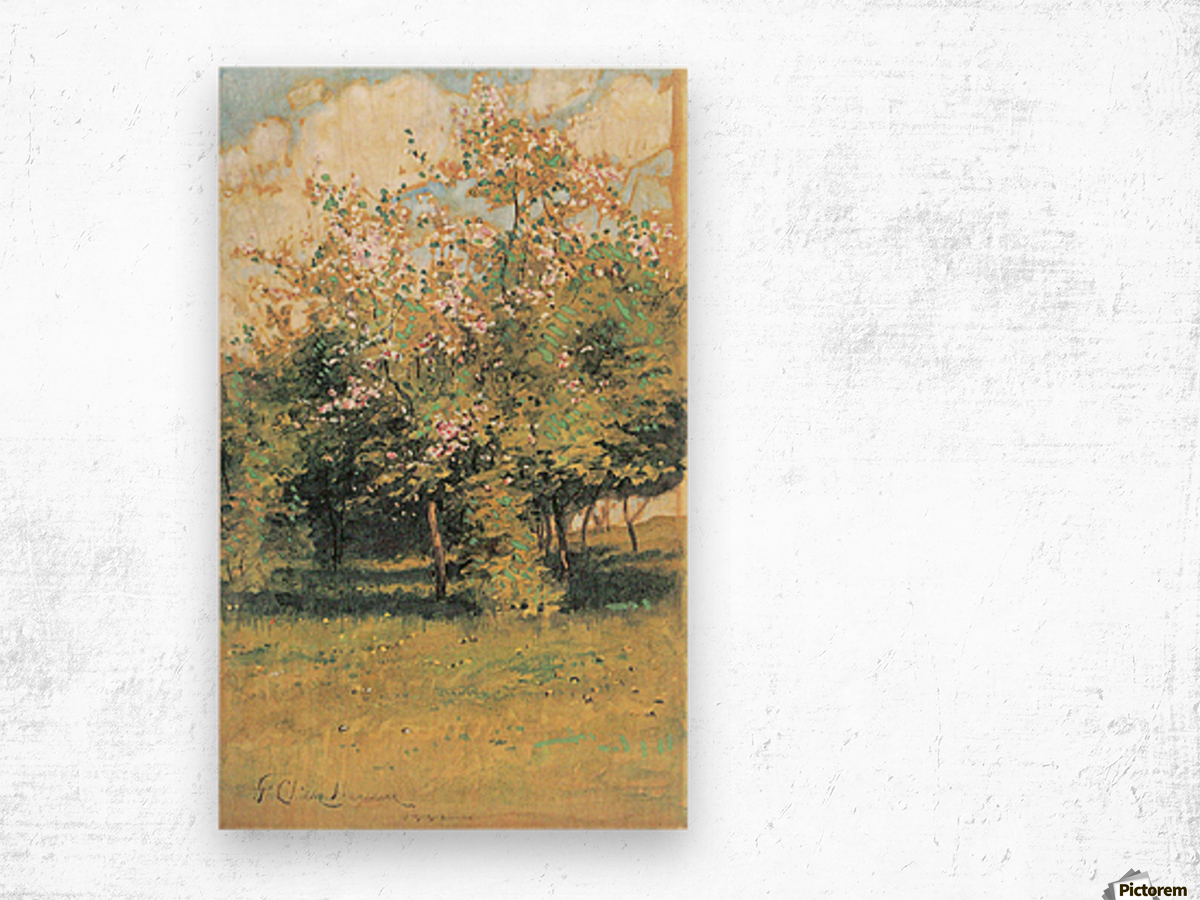 Blooming Trees by Hassam Wood print