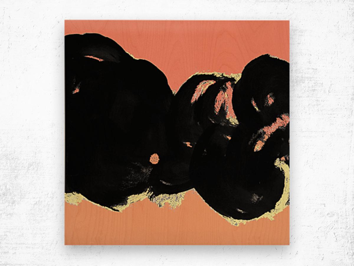 Black Clouds Wood print