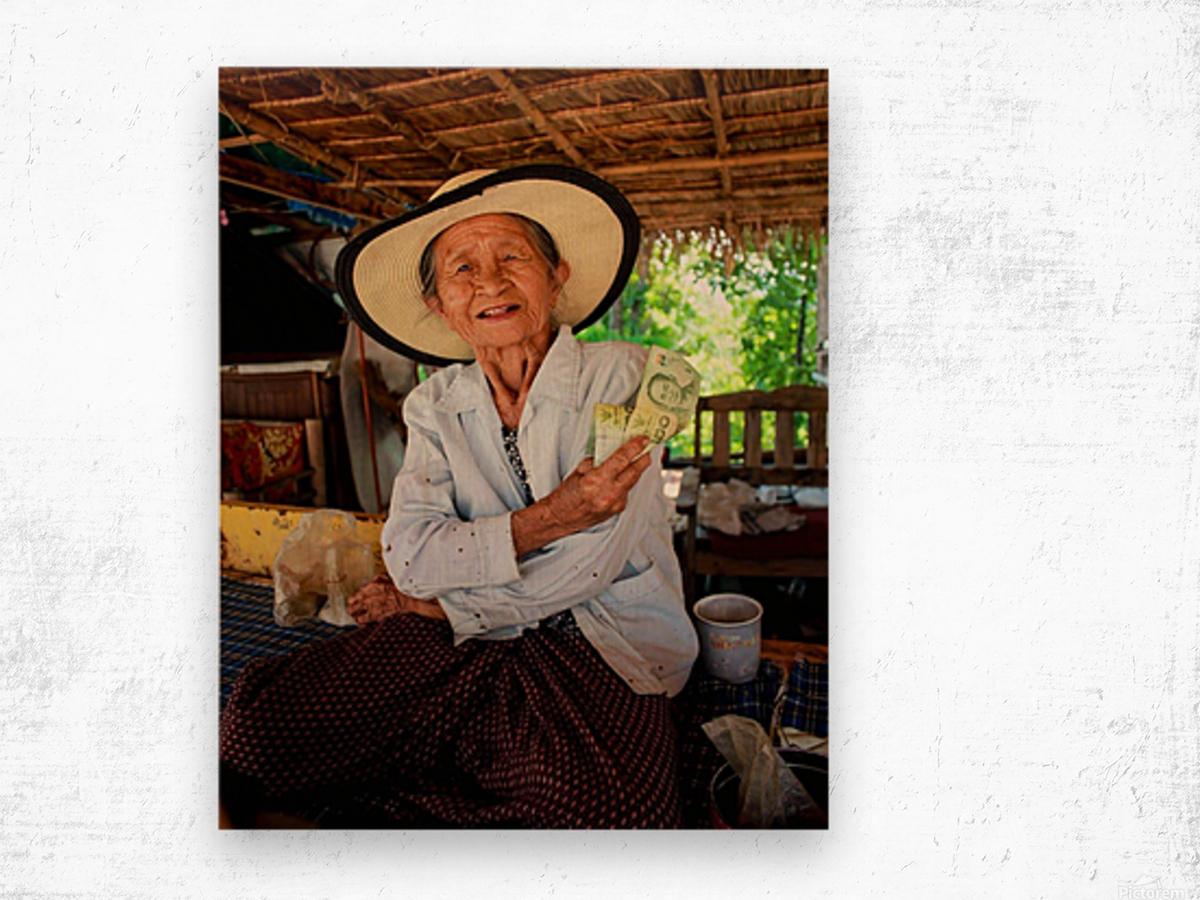 Thai Grandma Wood print