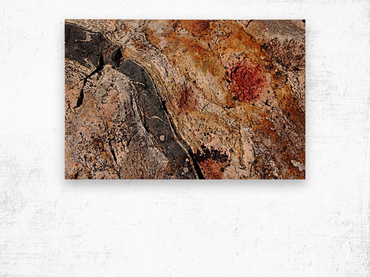 Colors Of Rock Wood print