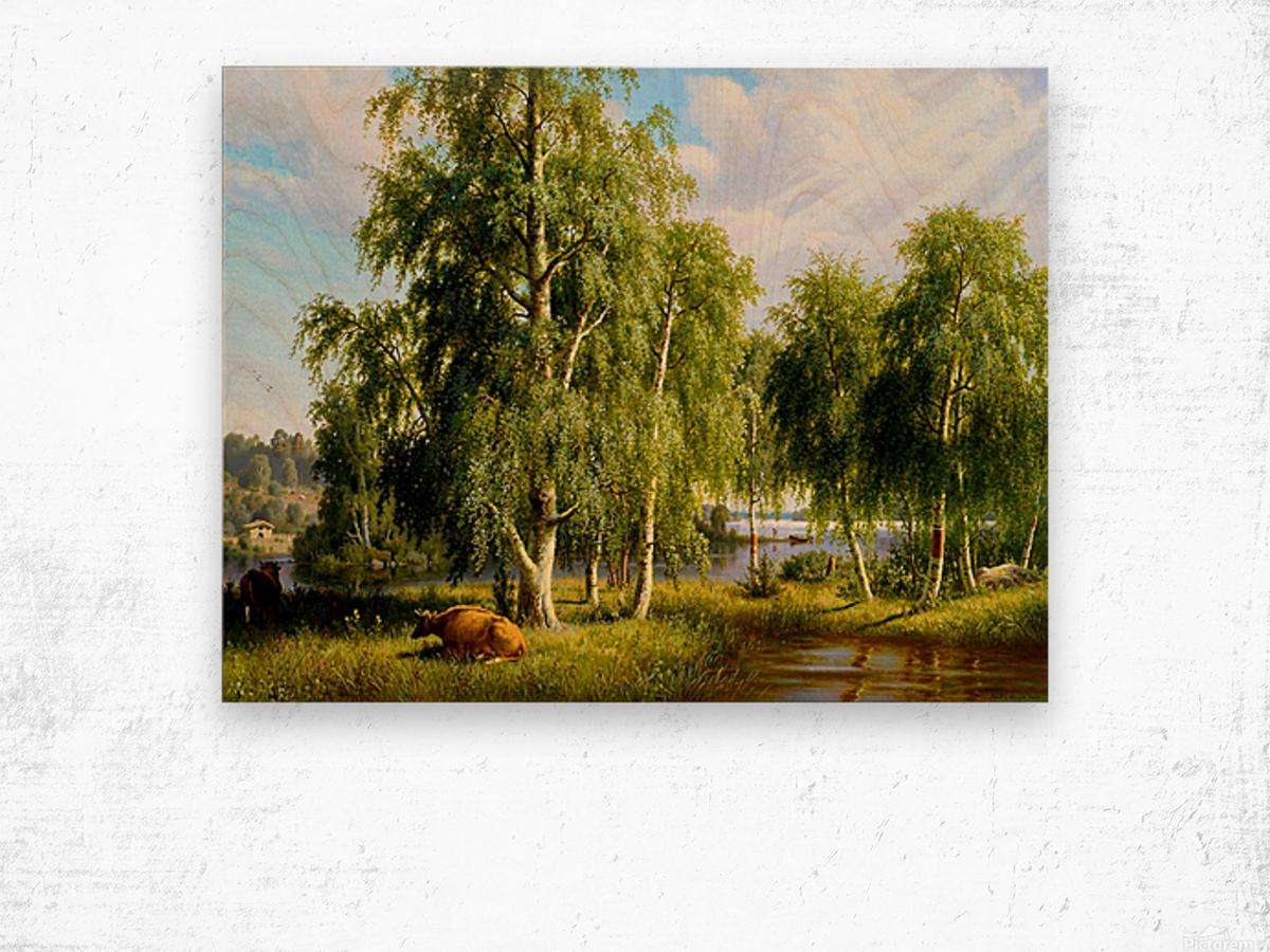 Beautiful Summer Day In The Farm_OSG Wood print