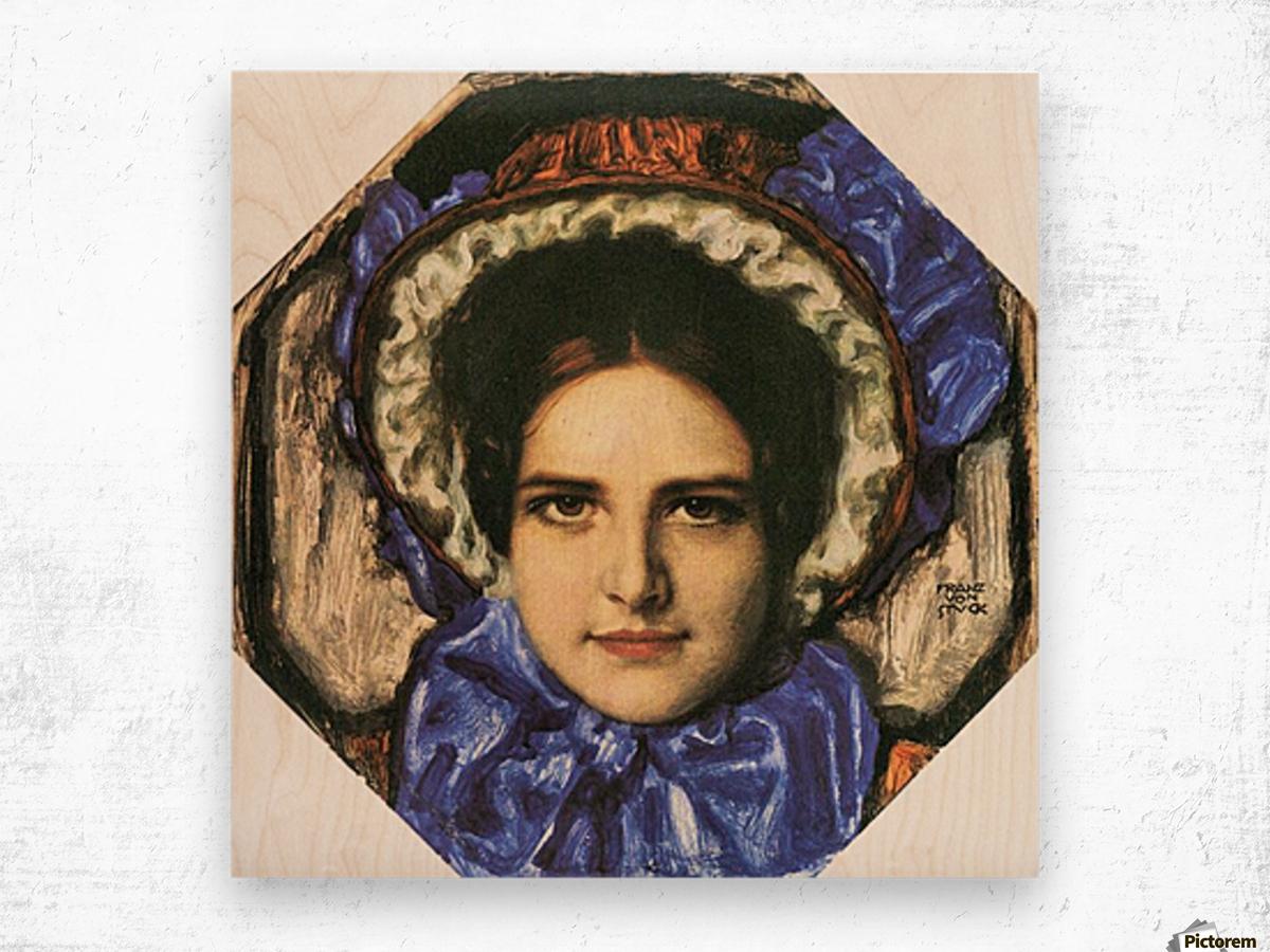 Daughter Mary by Franz von Stuck Wood print