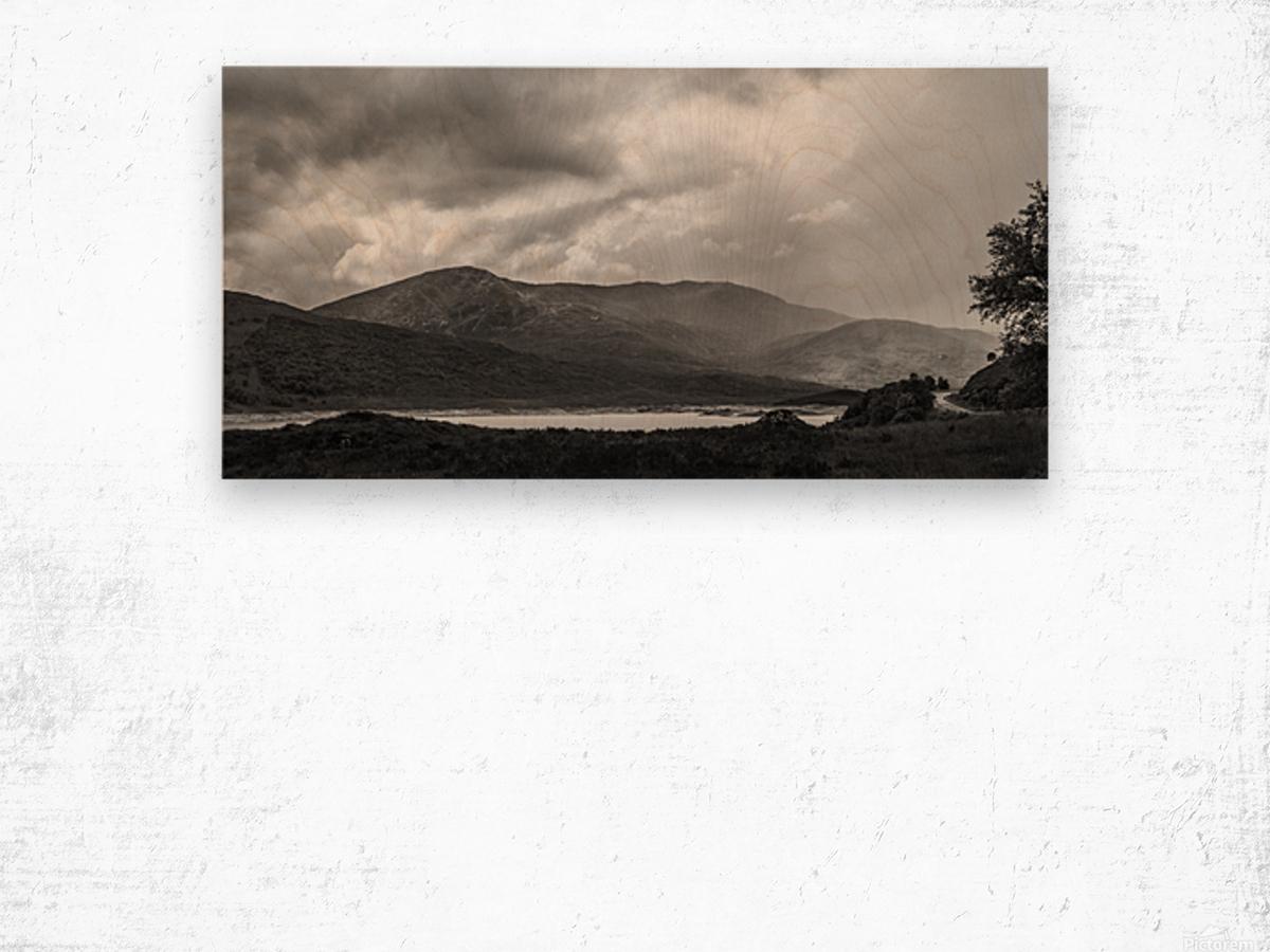Scotish Highlands Impression sur bois