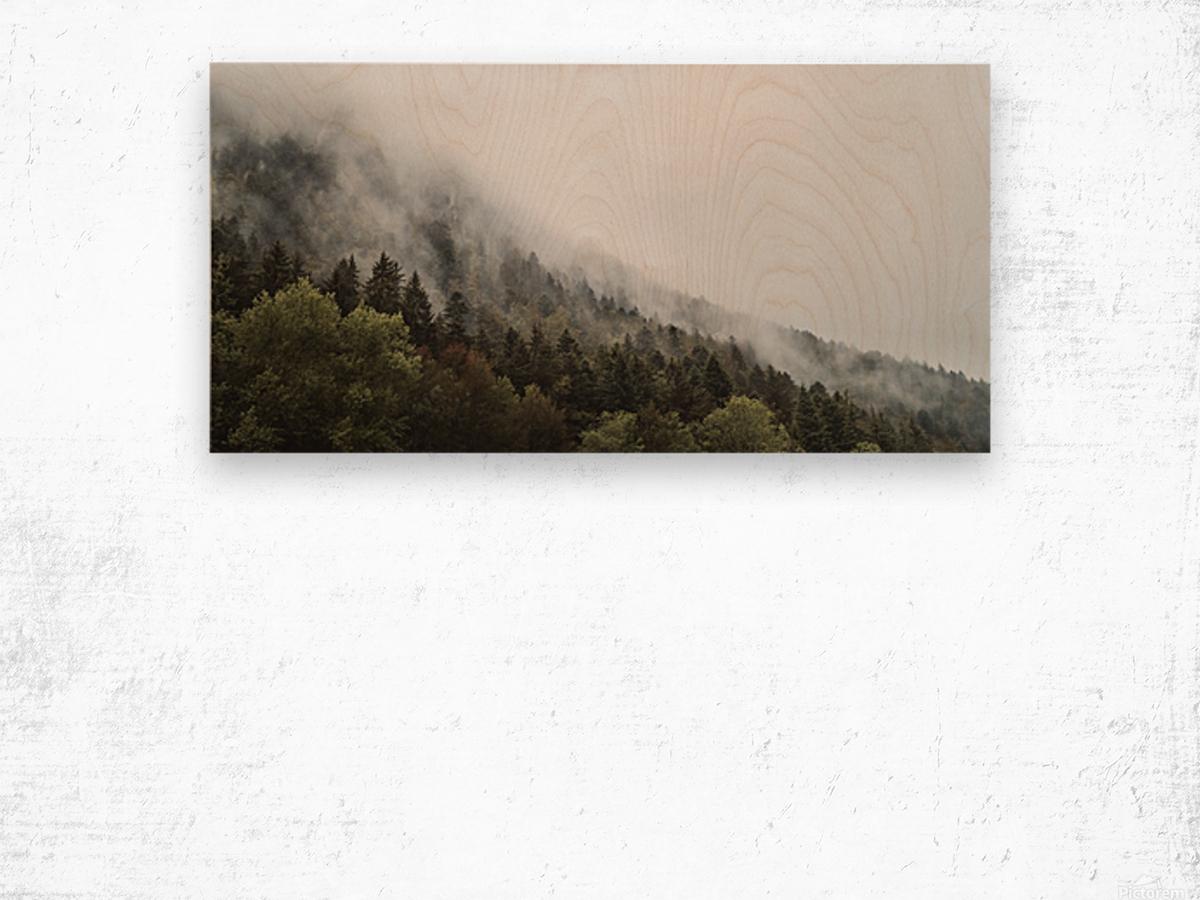 Brume de Montagne Impression sur bois