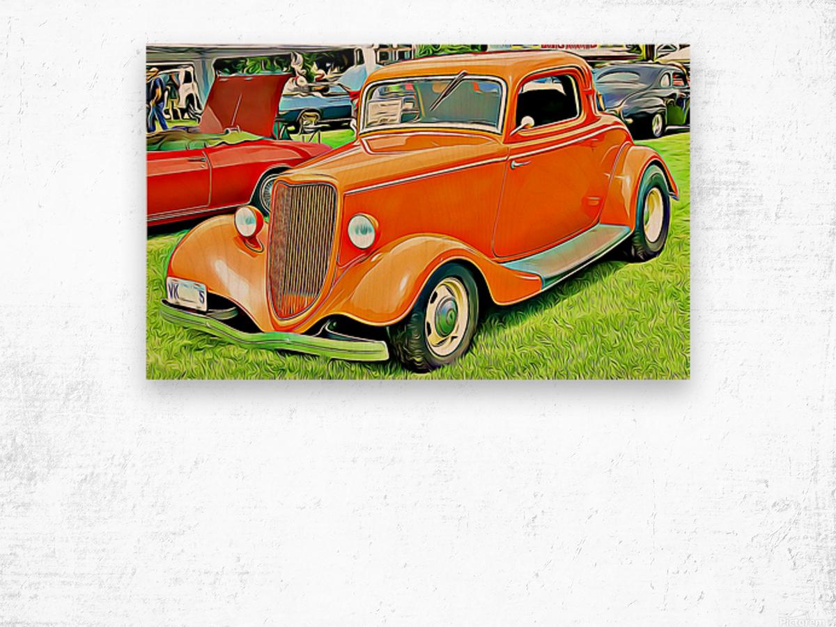 hot rod classic car  Wood print