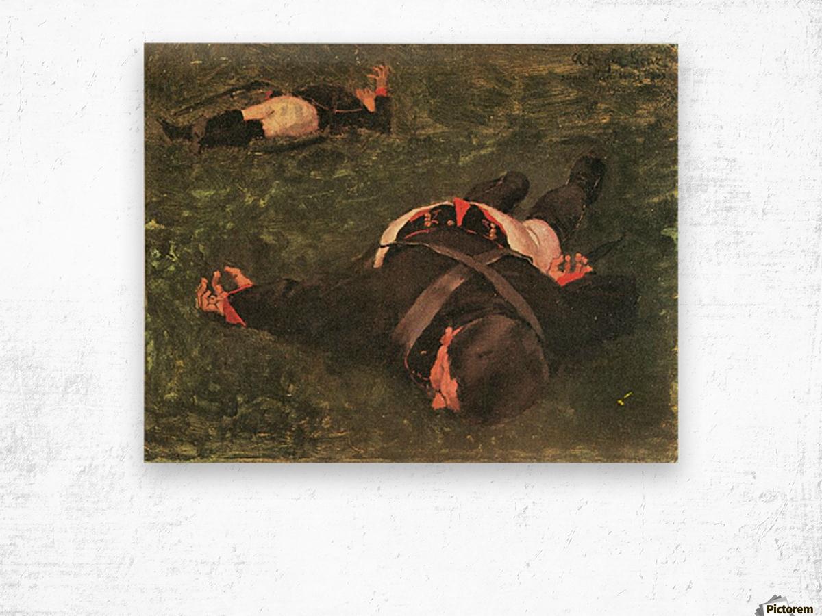Dead Frenchmen by Albin Egger-Lienz Wood print