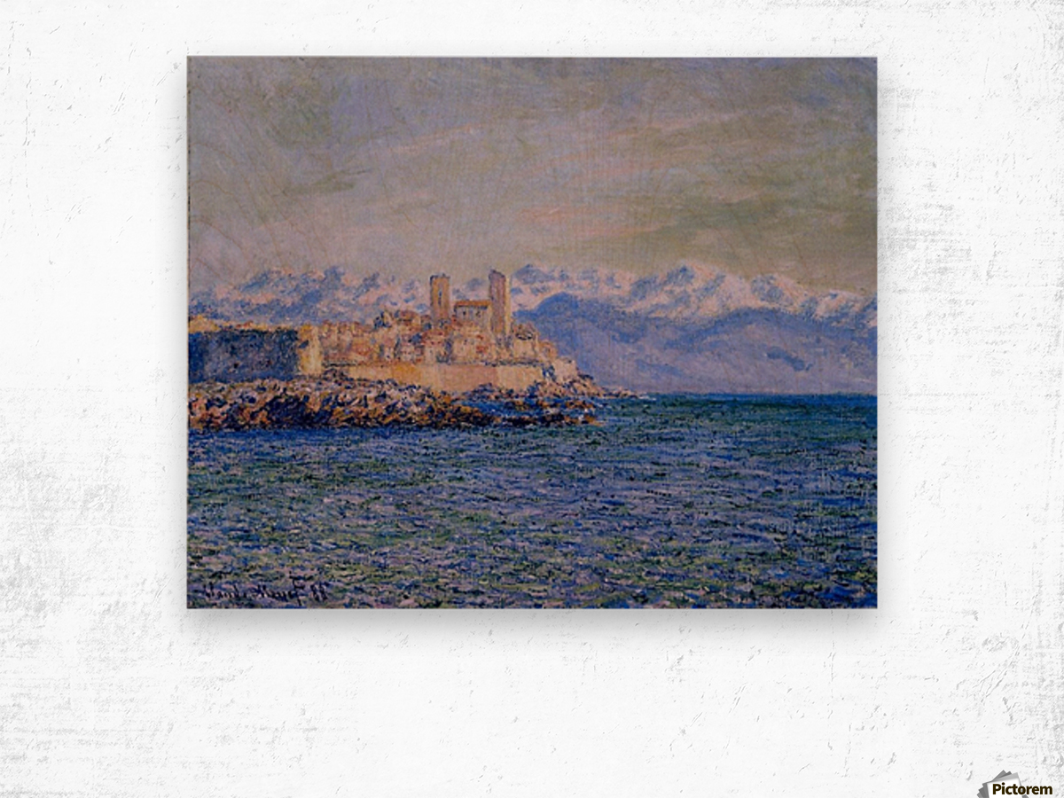 The Old Fort at Antibes Wood print