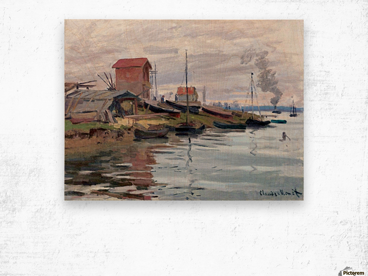 The Seine at Petit-Gennevilliers Wood print