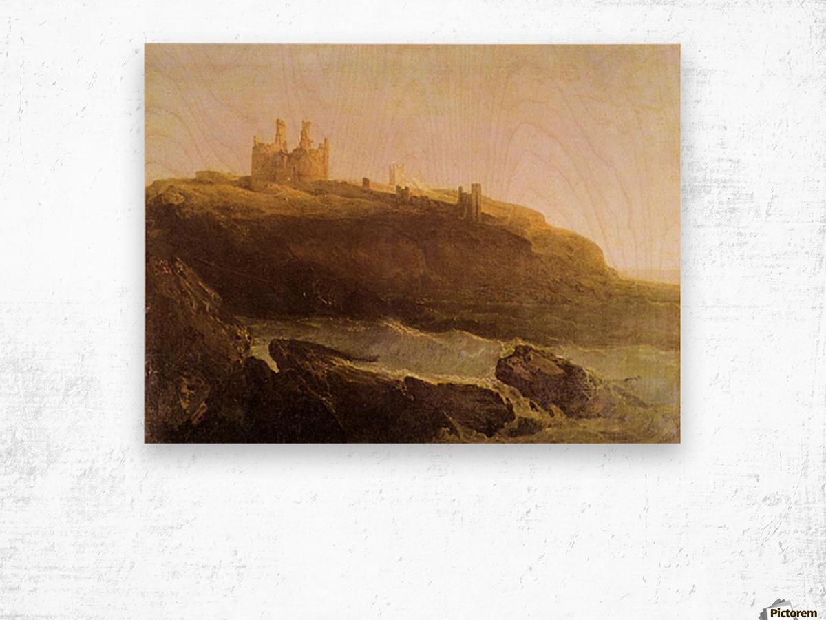 Dunstanborough Castle by Joseph Mallord Turner Wood print
