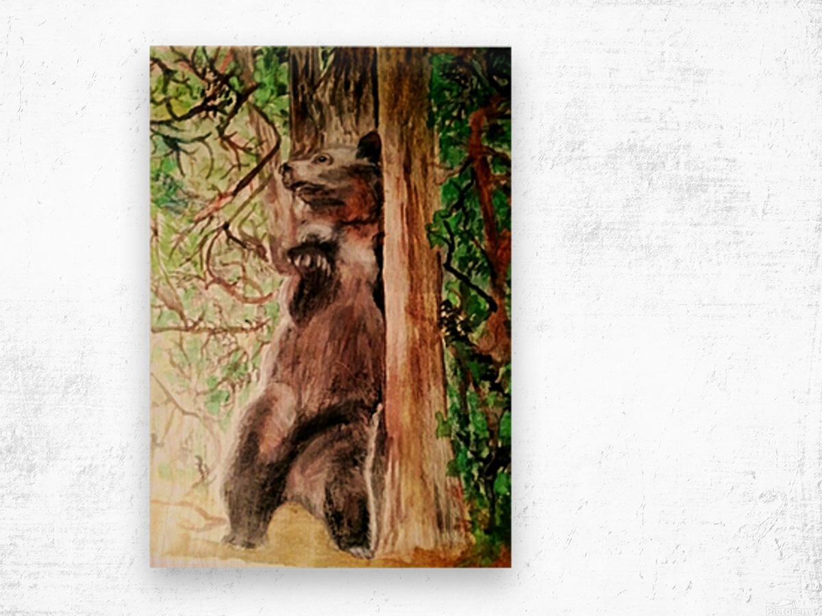 The Bear Facts Wood print