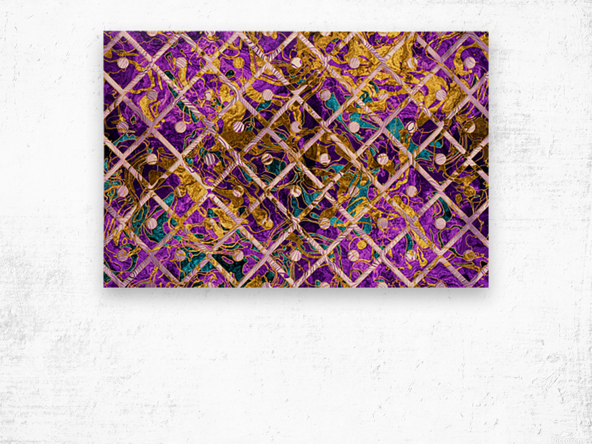 Pattern LXXXII Wood print