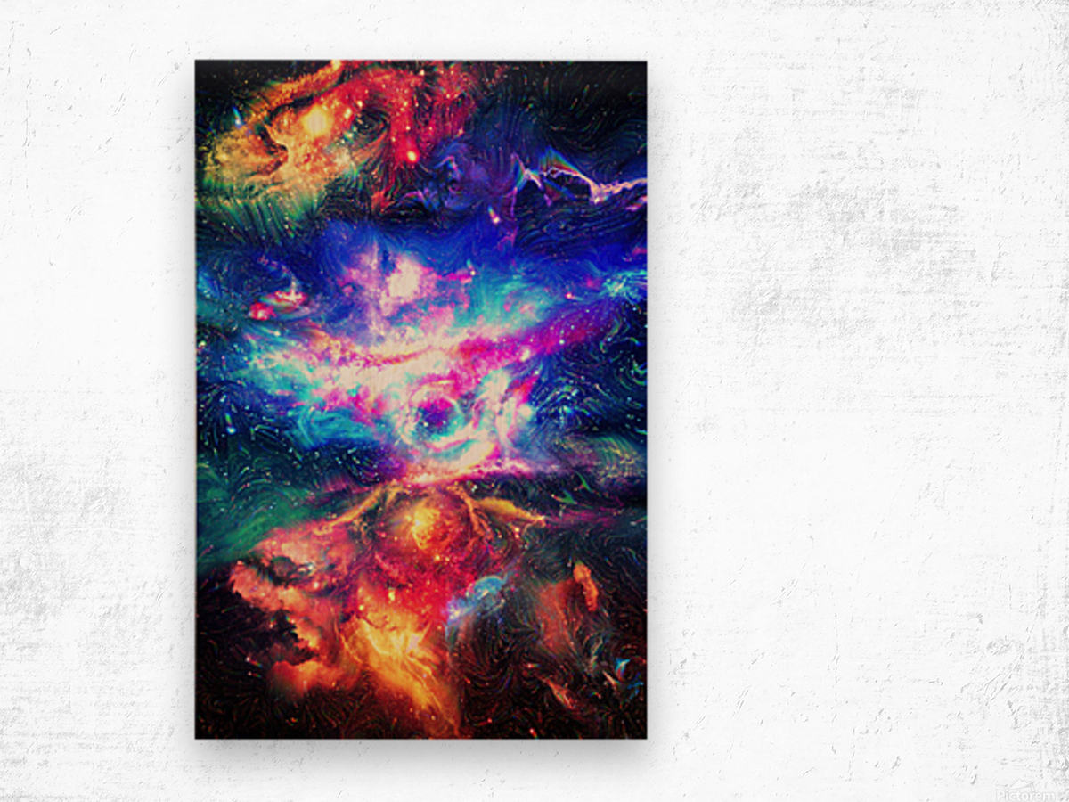Colorful Galaxy  Wood print